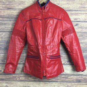 Vtg Brimaco Motorcycle Bike Racer Leather Jacket